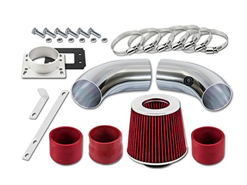 Velocity Concepts Red Short Ram Air Intake Kit + Filter 98-01 For Ford Ranger with 2.5L L4