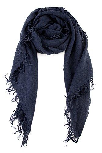 Chan LUU NEW Blue Night Beautiful Cashmere & Silk Soft Scarf Shawl Wrap ()