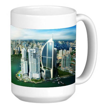 Popular Panama City Scene 15 ounce Ceramic Coffee Mug Tea Cup