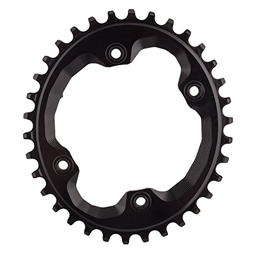ABSOLUTE BLACK Shimano Oval Traction Chainring Black/96 BCD (M9000 XTR), 34t