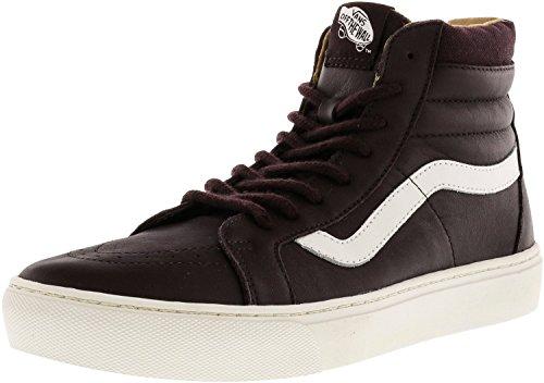 Vans Womens Sk8 Hi Cup Hight Top Sneakers Moda Iron Brown / Blanc De Blanc