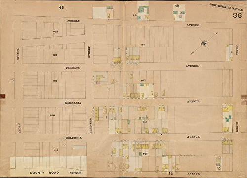 Map Poster - Jersey City, V. 4, Double Page Plate No. 36  32