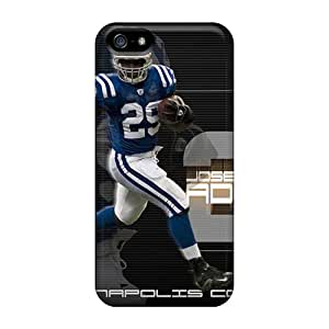 JoanneOickle Iphone 5/5s Shockproof Phone Cover Allow Personal Design Vivid Indianapolis Colts Pictures [VvS5263BnmW]