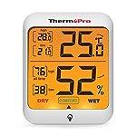 ThermoPro TP53 Termometro Igrometro Interno Misuratore di Umidità e Temperatura Ambiente Digitale Termoigrometro… 4107RCfylhL. SS150