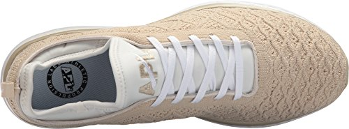 Apl: Atletisch Voortstuwing Labs Mens Techloom Phantom Running Sneakers Wit / Perkament / Creme