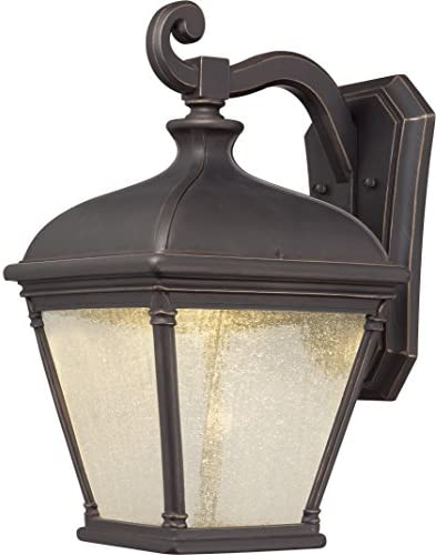 Minka Lavery Outdoor Wall Light 72397-143C Lauriston Manor Glass Exterior Wall Lantern, Oil Rubbed Bronze