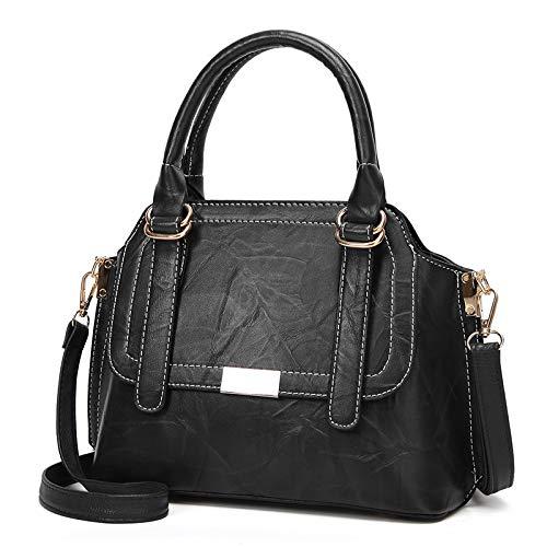 Amazon.com: Vento Marea Handbags Women Bags Zipper Style Handbags Tote Bag Ladies PU Leather Bag Women Shoulder Bag Bolsas Feminina Color black: Shoes