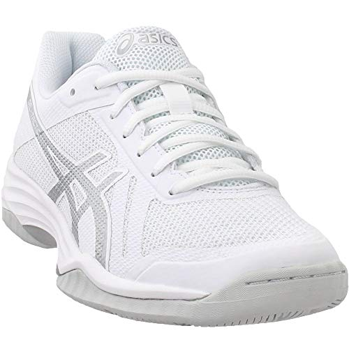 (ASICS Women's Gel-Tactic 2 Real White/Silver 9.5 B)