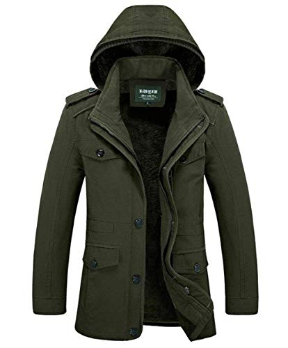Coat Warm Apparel 16 with Winterparka Coat Jacket Hooded Winter Outwear Winter Jacket Parka Jacket Khaki Outerwear Outerwear Men's Quilted d08w4qd