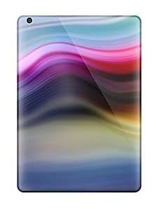 High Quality UdhVSOj3144MGUpa Bright Colorful Wavy Lines Tpu Case For Ipad Air