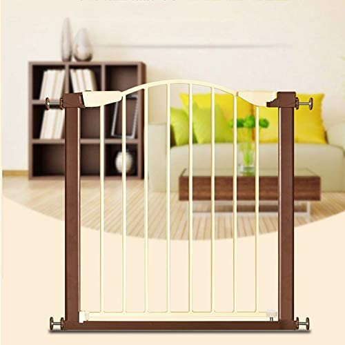 Huo Baby Safety Gate Metal Stair Gate Easy Open Auto Close,Fits Doors,Hallways,Stairs (Size : 127-131cm)