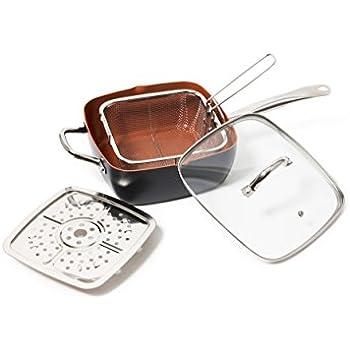 Amazon Com Copper Pan 5 Piece Cookware Set Non Stick