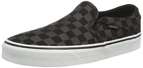 Black Sneakers Checker Vans Black Tint Asher Blue Noir W Washed Basses Femme qwUtzZ
