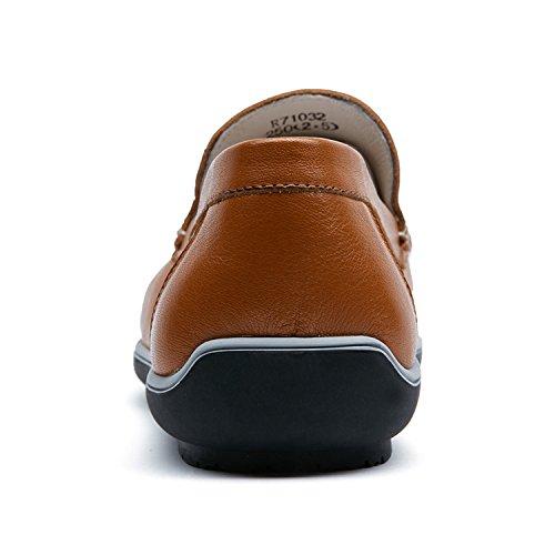 Zro Mens Fashion Boucle Mocassins Décontractés Chaussures Dété Respirant Marron