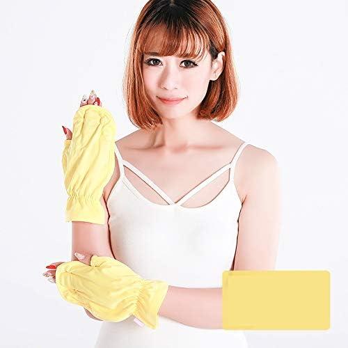BAJIMI UVカット手袋 手触りが良い ファッション日焼け止め手袋UPF50 +アンチUVアウトドアスポーツ日焼け止め手袋 夏 ハンド ケア レディース/メンズ (Color : Peach powder, Size : L)