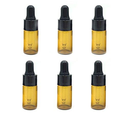 12Pcs 3ml Essential Oil Bottle Perfume Dropper Bottle Essence Bottles DUTE-L Sample Bottle Holder Container Great for Travel Packing( Brown ) from ASTRQLE