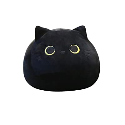 Binory Cute Black Cat Plush Toy Pillows, Creative Cat Shaped Lumbar Back Support Pillow Office Nap Time Animal Doll Pillows for Girlfriend Valentines Gift and Children Birthday Gift (L 21.7Inch): Toys & Games
