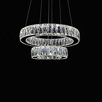 Ss led crystal chandeliers lights modern lighting two for Contemporary chandeliers amazon