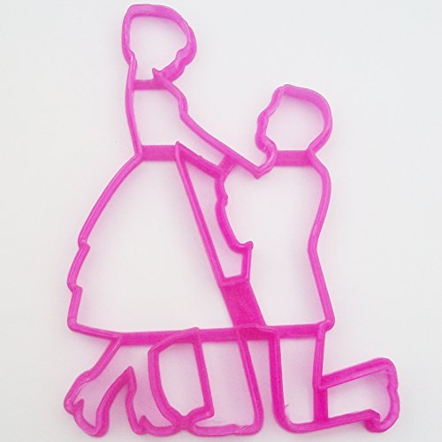 Proposal Fondant / Cookie Cutter for Cake Decorating Icing - Bride Cookies