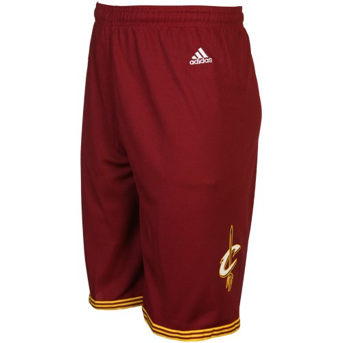 NBA Cleveland Cavaliers Youth Boys 8-20 Replica Road Shorts, Large (14/16), Burgundy