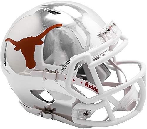 (Sports Memorabilia Riddell Texas Longhorns Chrome Alternate Speed Mini Football Helmet - College Mini Helmets)