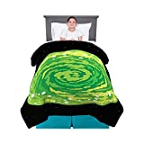"""Franco Kids Bedding Comforter, Twin/Full Size 72"""" x 86"""", Rick and Morty"""