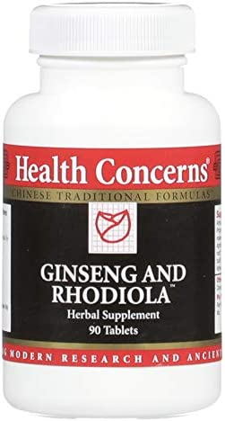 Health Concerns – Ginseng and Rhodiola Herbal Formula – Modified Ren Shen Ge Jie San Chinese Herbal Supplement – Respiratory Support – with Rhodiola Rosea Root Extract – 90 Count