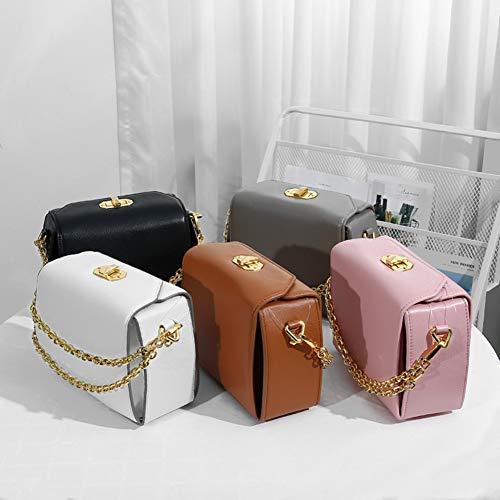 Design à à de bandoulière Sacs Petit Sac 20x8x15cm Main 8x3x6inch bandoulière Sac chaîne Dames Blanc Sac Petits Sacs à Main Rose Femmes fIzxBqw