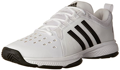 Indoor Shoes Adidas Court (adidas Performance Men's Barricade Classic Bounce Tennis Shoes, White/Black/White, (11 M US))