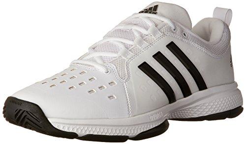 - adidas Men's Barricade Classic Bounce Tennis Shoes, White/Black/White, (9.5 M US)