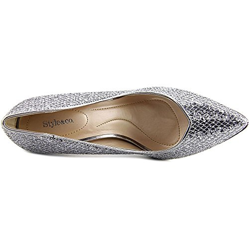 Style & Co Pyxiee Mujer US 7 Plata Tacones
