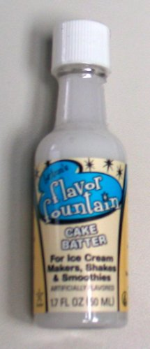 Flavor Fountain Ice Cream Flavoring - 1.7oz bottle - Cake Batter (Best Cake Batter Ice Cream)