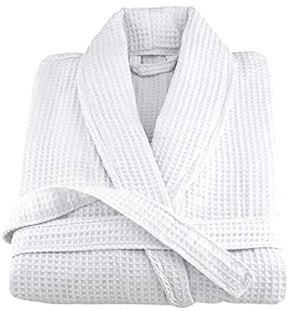 f140b91a50e Image Unavailable. Image not available for. Color  OrganicTextiles Spa  Bathrobe Waffle ...