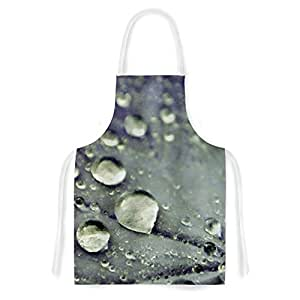 "KESS InHouse Iris Lehnhardt ""Water Droplets Blue"" Teal Artistic Apron, 31 by 35.75"", Multicolor"