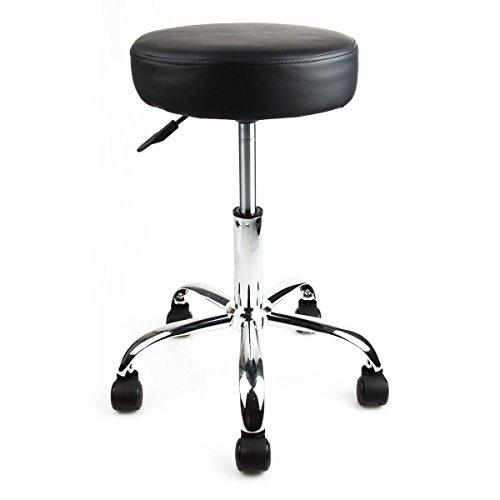 Apontus salon stool chair flat black buy online in uae for 360 degrees salon
