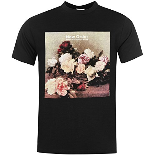 New Order Power, Corruption & Lies T-Shirt Mens Black Music Top Tee T Shirt Large (New Order Power Corruption And Lies Shirt)