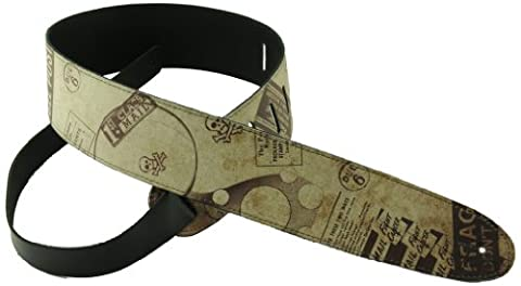 Perris Leathers P25OL-08 2.5-Inch Leather with High Resolution Funky Design (Funky Guitar Strap)