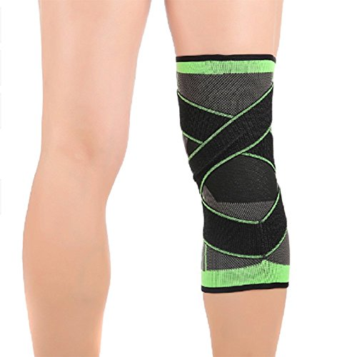 Fueyou Knee Brace Compression Sleeve with Strap for Best Support & Pain Relief for Meniscus Tear Arthritis Running, Basketball Crossfit Jogging and Post Surgery Recovery for Men & Women(1 Piece)