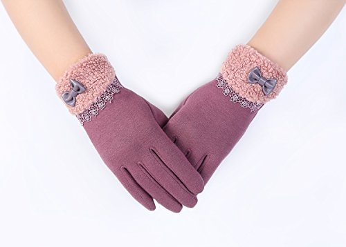 Women's Winter Touch Screen Gloves Texting Driving Gloves Cotton Wool Lining