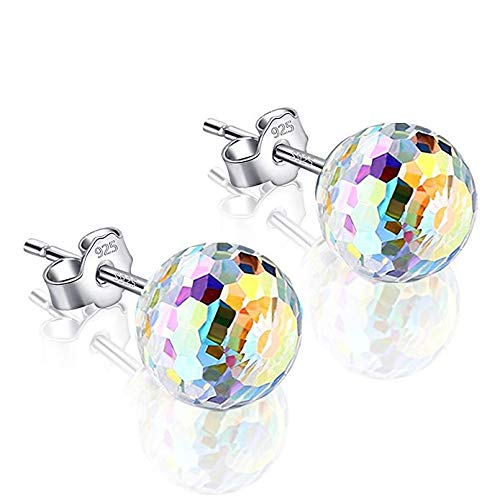 (Sterling Silver Sweep up Ear Pin Crawler Cuff Wrap Climber Earrings with 7 CZ Stones (VP))