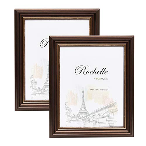 - 8x10 Picture Frame Antique Brown - 2-Pack Frames by EcoHome
