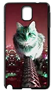 Cute cat Durable Back Case Hard Covers For Samsung Galaxy Note3 N9000