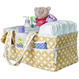 Baby Diaper Caddy Organizer Washable | Nursery Storage Diaper Tote and Basket |15 x 9 x 7 Inches