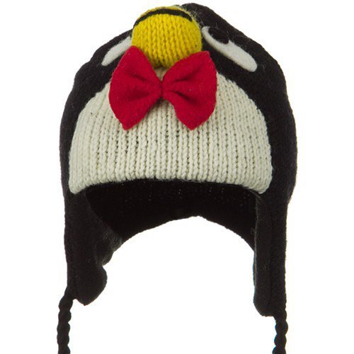 Chullo Ski Hat - E4hats Toddler Animal Wool Ski Hat - Penguin OSFM