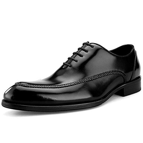 HWF Scarpe Uomo in Pelle Scarpe in pelle da uomo di stile britannico cucitura a mano Abiti formali affari a punta (Colore : Nero, dimensioni : EU38/UK5.5) Nero