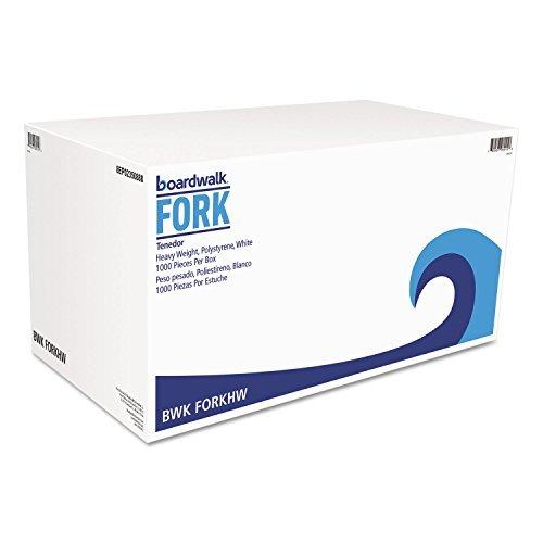 Boardwalk FORKHW Heavyweight Polystyrene Cutlery, Fork, White, 1000/Carton
