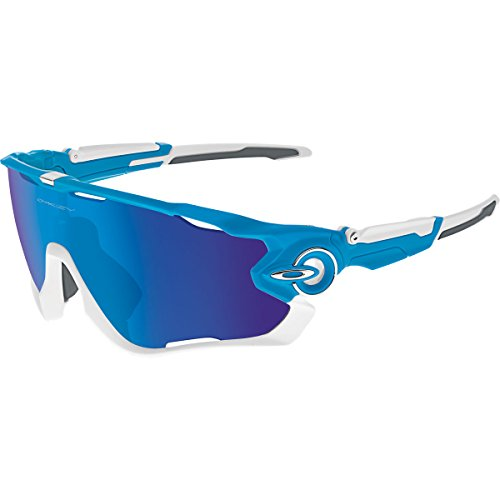 Oakley Men's Jawbreaker 0OO9290 Non-polarized Iridium Rectangular Sunglasses, SKY, 31 - Styles Oakley
