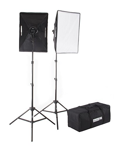 Fovitec  StudioPRO – 2x 24″x36″ Softbox Lighting Kit w/ 4200 W Total Output – [Pro][Includes Stands, Softboxes, Socket Heads, 10x 85W Bulbs]