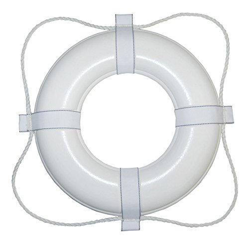 - Taylor Made Products 360 20-Inch Polyurethane Foam Marine Life Ring with Grab Lines-White