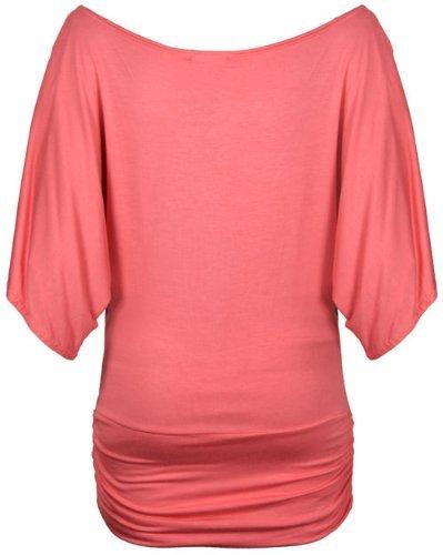 Fast Fashion para mujer etc, en la parte superior de hombro de lentejuelas brillantes alas de mariposa a presión Koralle